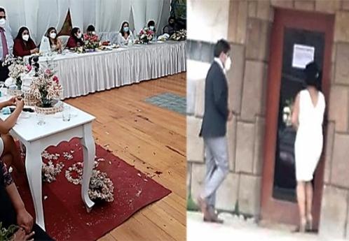 26 personas irresponsables que celebraban matrimonio fueron intervenidos por la Policía en Curibamba - Andahuaylas