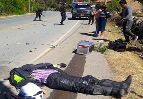 Motocilista falleció tras colisionar con volquete en la ruta Chalhuanca - Cotaruse